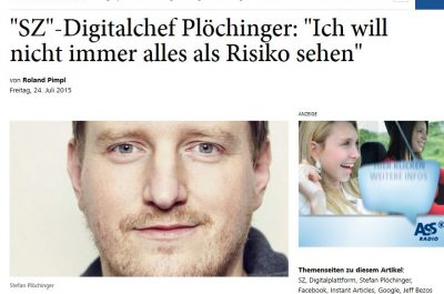 SZ-Digitalchef Stefan Plöchinger im Interview