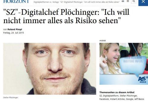 SZ-Digitalchef Stefan Plöchinger im Interview