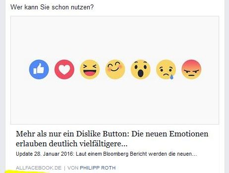 Facebook Reactions gelauncht