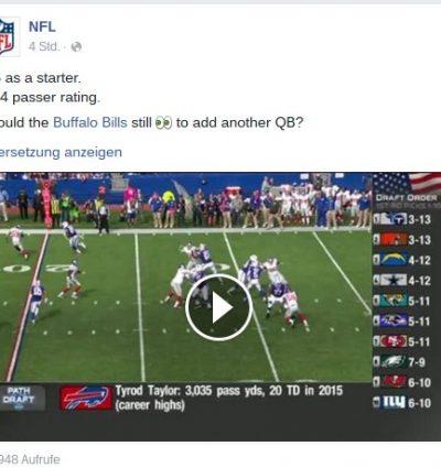 Der Superbowl auf Facebook?