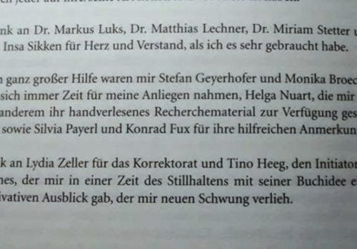 Kommunikation nach Watzlawick - Biografie Danksagungen Konrad Fux