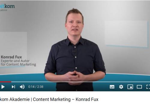 Content Marketing Video MediaPunk Konrad Fux Bitkom Akademie